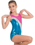 Childrens Tri Color Tank Gym Leotard by Body Wrappers
