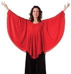 Adult Angel Wing Drape Pullover by Body Wrappers