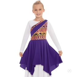 Children's Joyful Praise Asymmetrical Tunic by Eurotard