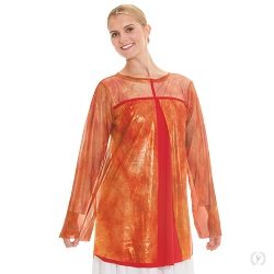 Children's Flame of Fire Split Layer Tunic by Eurotard