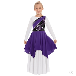 Children's Opulent Orchid One Shoulder Tunic by Eurotard