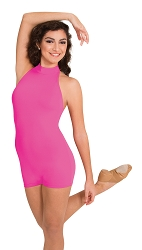 Mock Neck Halter Short-A-Tard by Body Wrappers