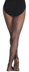 Rhinestone Seamed Fishnet by Body Wrappers