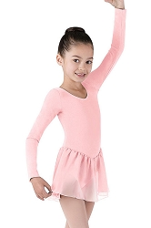 Girls Long Sleeve Leotard with Skirt Attached by Bloch