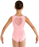 Childrens Miame Heart Back Leotard by Bloch