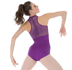 Power Mesh Zip Front Leotard by Premiere