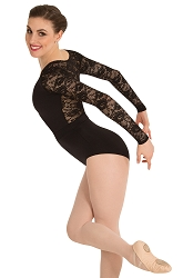 Long Sleeve Lace Back Leotard by Premiere