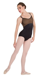Diamond Mesh Cross-Back Cami Leotard by Premiere